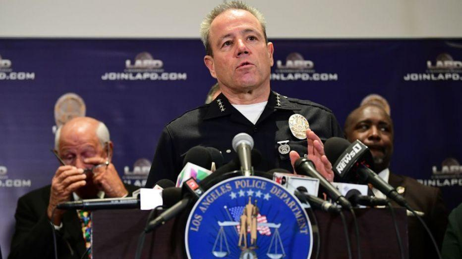 LAPD Chief Michel Moore apologizes for 'blood on their hands' remark at press conference