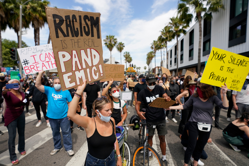 Venice protesters demand justice for George Floyd in march from Abbott Kinney