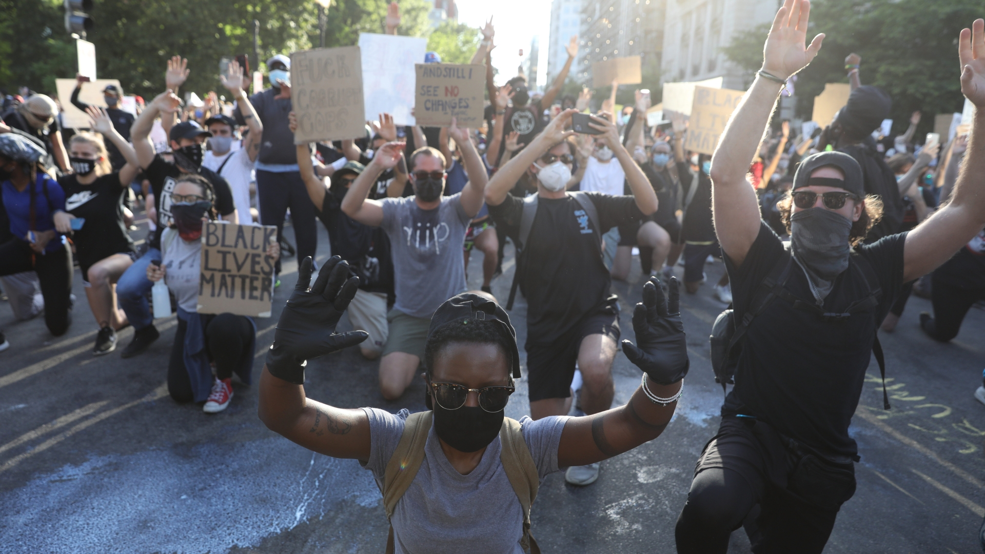'Protest and demonstrate in a peaceful manner' church leaders urge in downtown LA gathering
