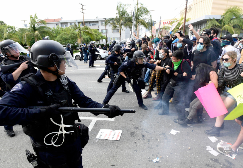 Outside group will review violent LAPD tactics used in recent protesters