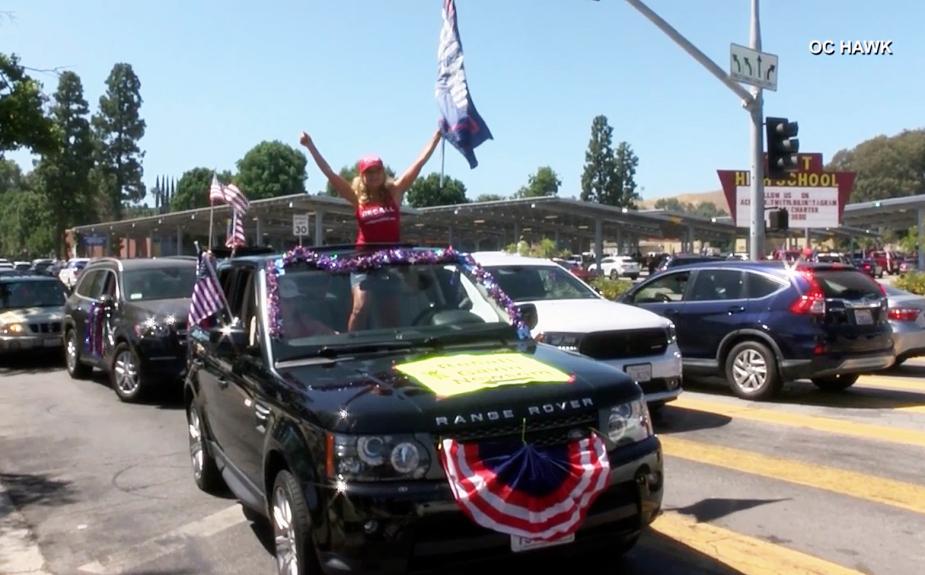Cheers and jeers for pro-Trump caravan in the Valley