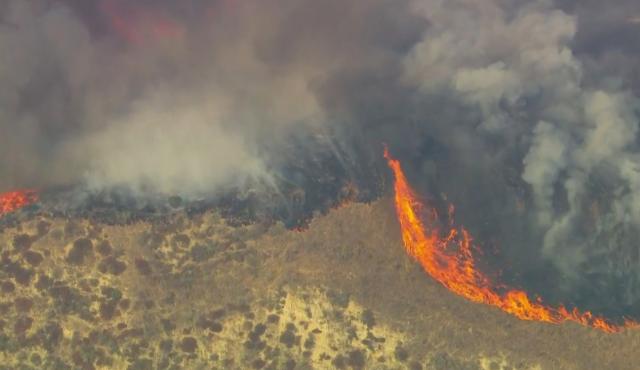 Evacuation Warning in Place as 800-Acre Fire Burns Near Lake Piru