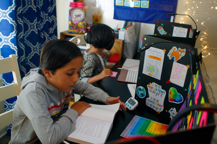 How Southern California families are making distance learning work