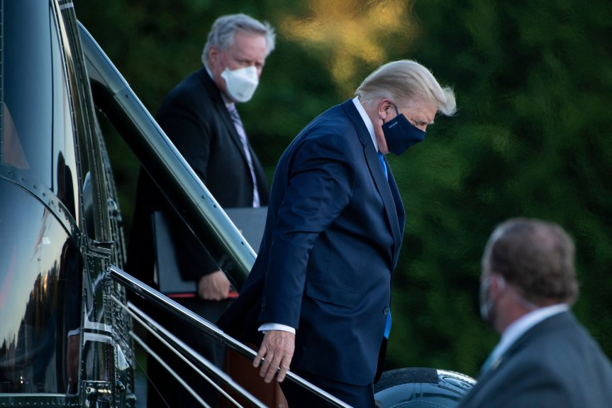 Trump was given oxygen before his admission to hospital
