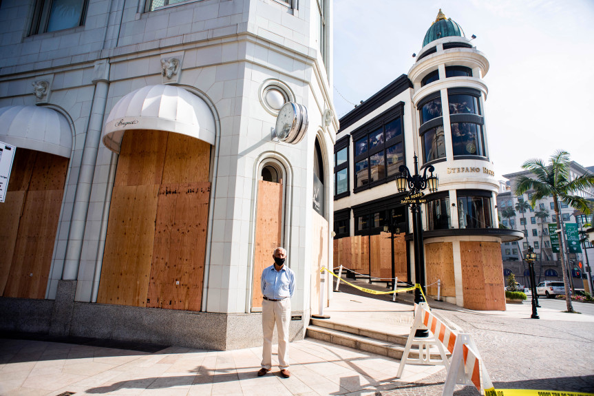 Some LA County businesses are boarded up in case of election unrest