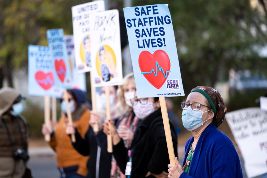 Nurses, healthcare workers authorize possible strike at 3 area hospitals