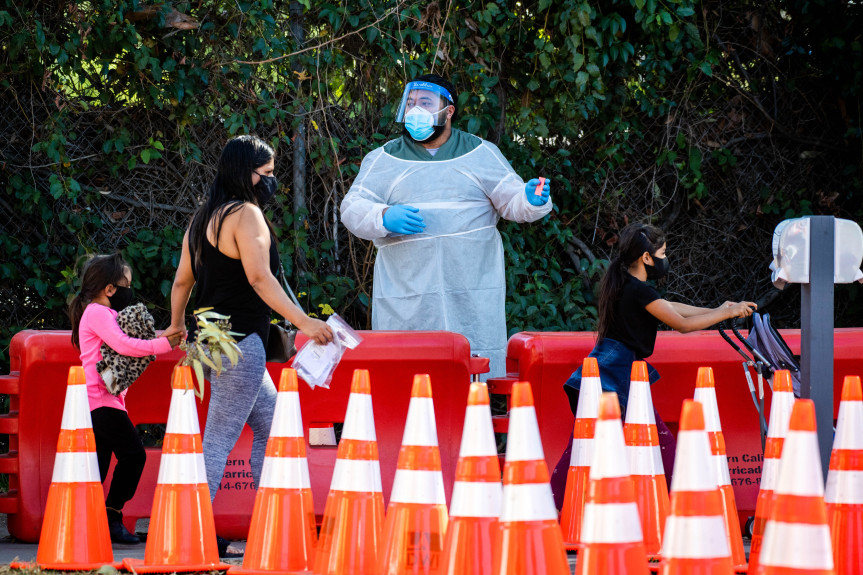 More grim L.A. County numbers arrive as officials race to ship first wave of coronavirus vaccines Sunday