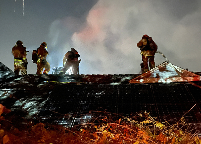 Attic fire hits Studio City hillside home