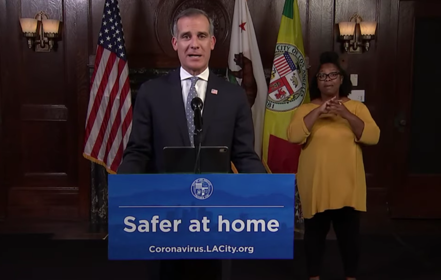 Los Angeles city residents must also follow 'safer-at-home' restrictions laid out by county