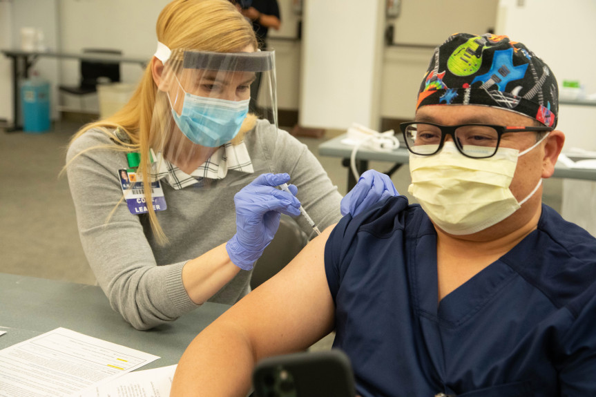 LA County will open 5 large-scale coronavirus vaccination sites next week