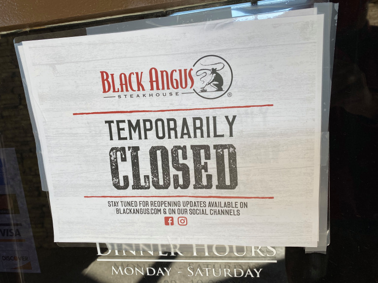 Black Angus Steakhouse temporarily closes most locations because of COVID-19
