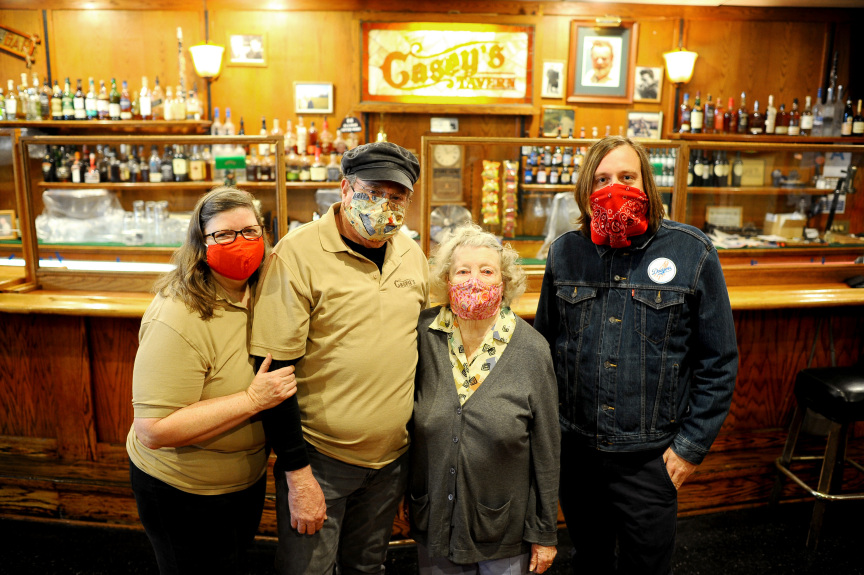 Owner of Casey's Tavern in Canoga Park hangs in there (with a little help from her friends)