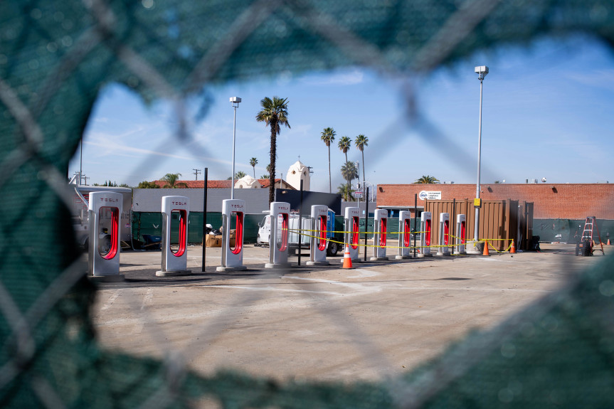 San Fernando welcomes Tesla superchargers, hoping to attract foot traffic to downtown area