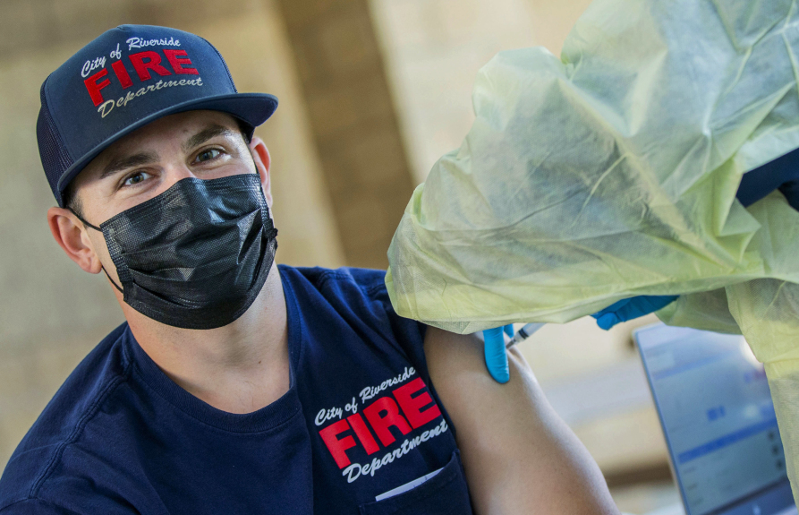 LAFD has enough COVID vaccine for all firefighters, but only 54% have opted for shot
