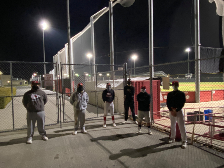 Burroughs High baseball players practice for first time since suspension for senior photos