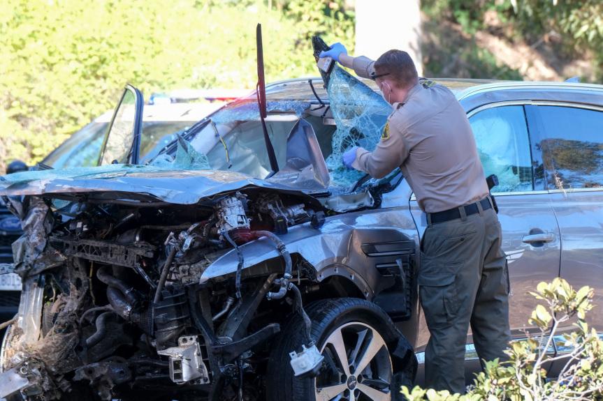 Speeding, failure to handle curve caused Tiger Woods' crash in Rolling Hills Estates