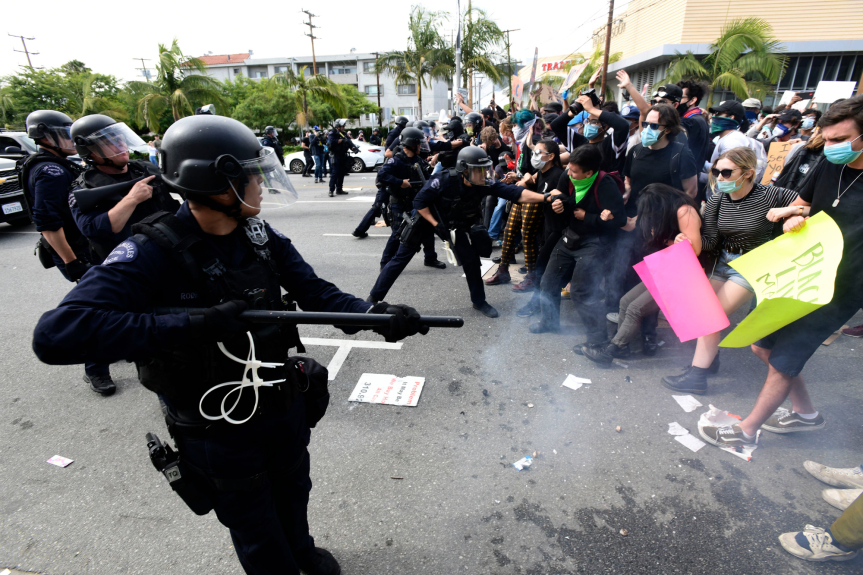 Flaws in LAPD responses to intense George Floyd protests reopened old community wounds, report authors say