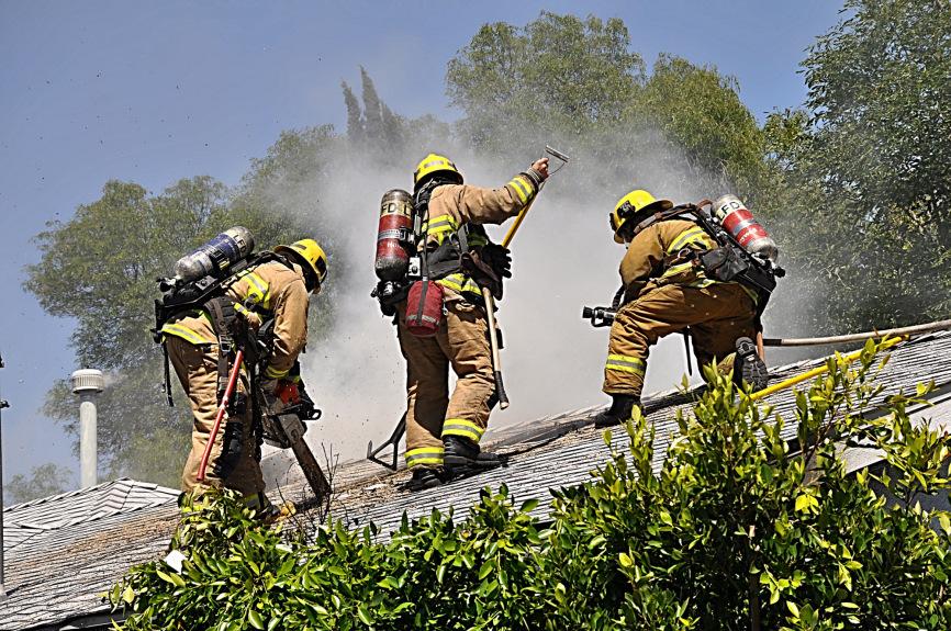 Barbecue propane tank explosion spreads fire to Granada Hills home