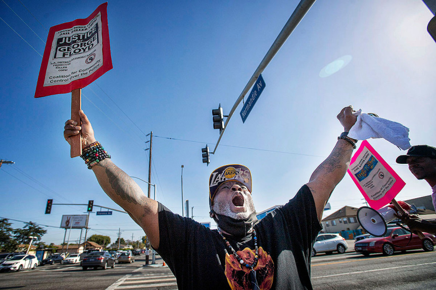 Small gatherings, celebrations spring up in Southern California following Chauvin verdicts