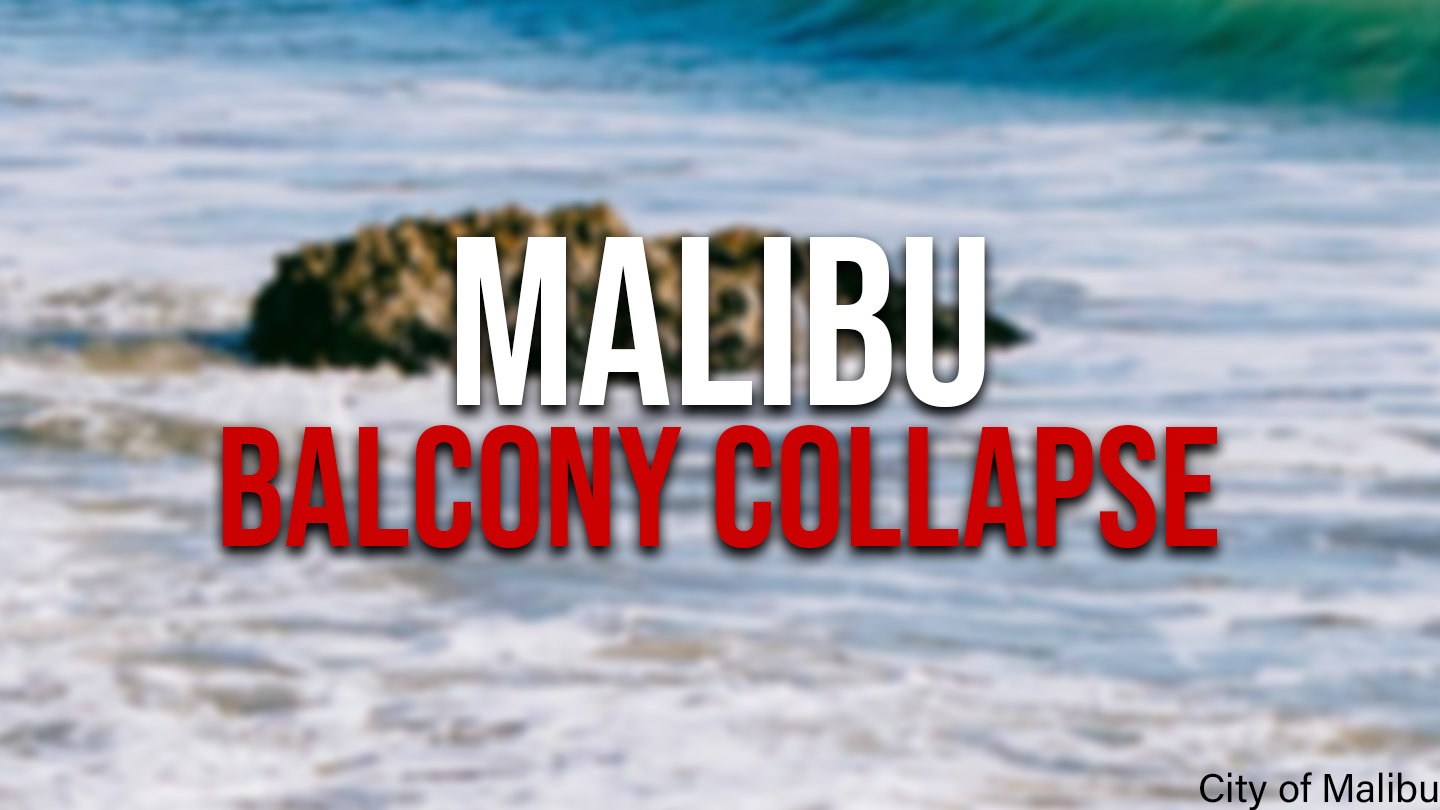 2 critically injured after residential balcony collapses in Malibu