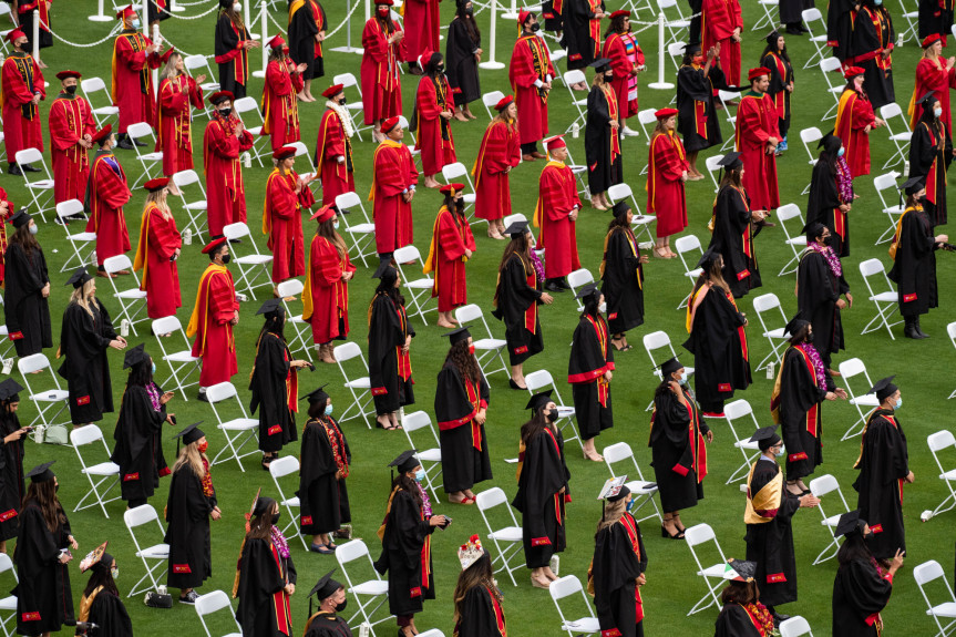 USC's pandemic-tested 2020, 2021 classes graduate in person