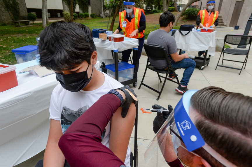 Teens are being vaccinated at 'decent pace,' LA County health officials say