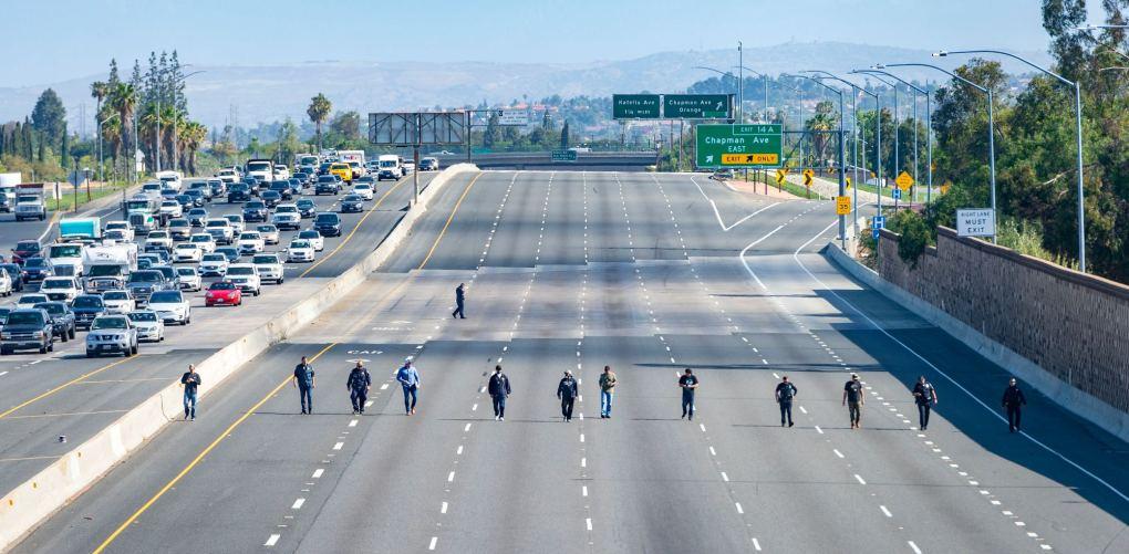 Manhunt underway after 6-year-old boy is killed in road-rage freeway shooting in Orange
