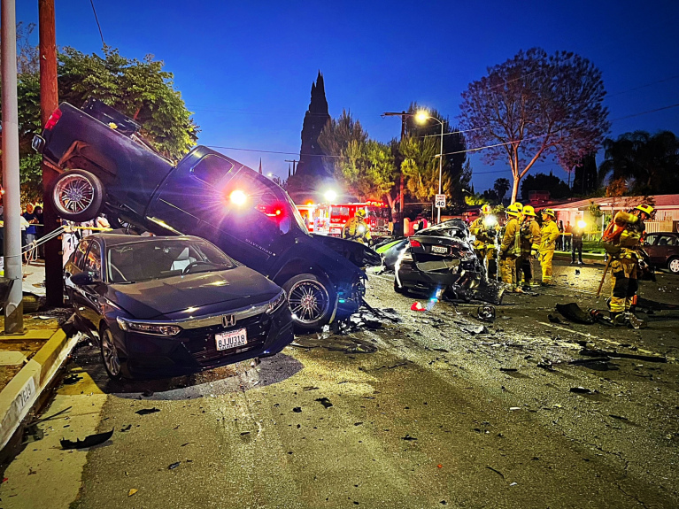 Woodland Hills man, 26, was killed in Reseda crash possibly caused by street racing