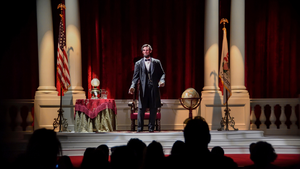 Disneyland 'Blinkin' Lincoln' animatronic used to go crazy and smash his chair in a robotic fit