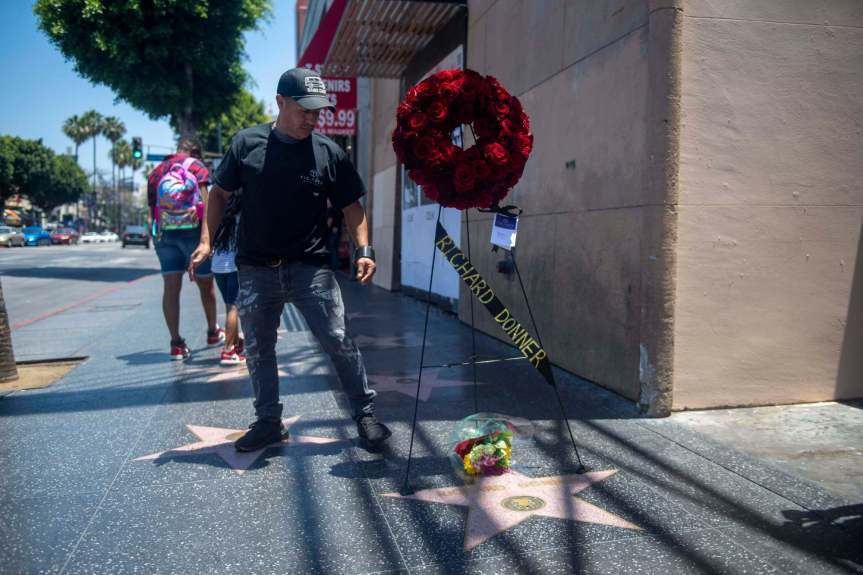 Movie fans pay Hollywood Walk of Fame tribute to director Richard Donner