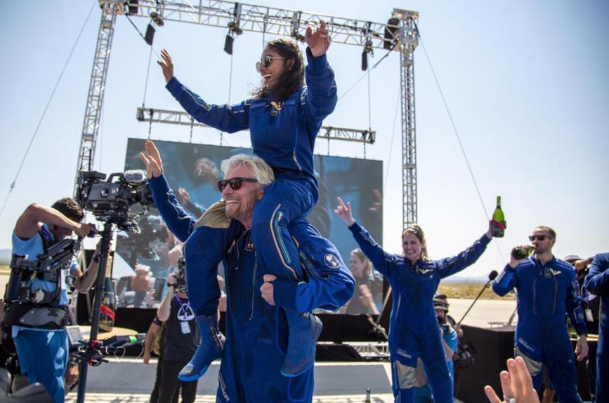 Billionaire businessman Richard Branson reaches space in his own ship