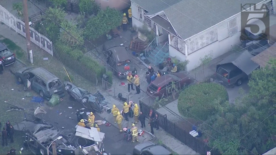Large fireworks explosion in South LA injures at least 9 people