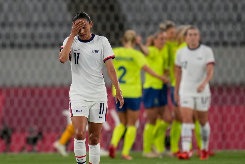 US women's soccer team opens Olympics with stunning 3-0 loss to Sweden