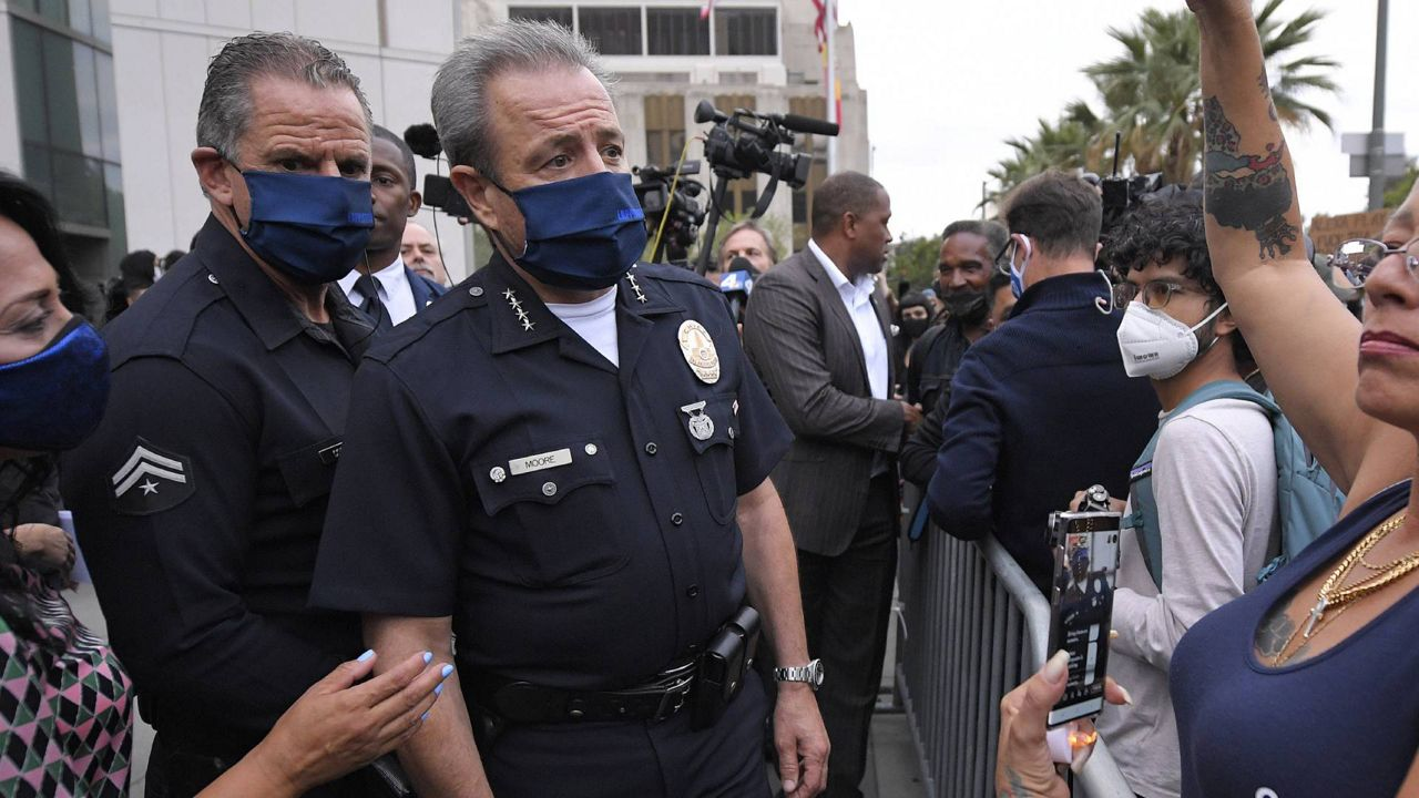 LAPD officer accused of mocking George Floyd cleared by internal panel