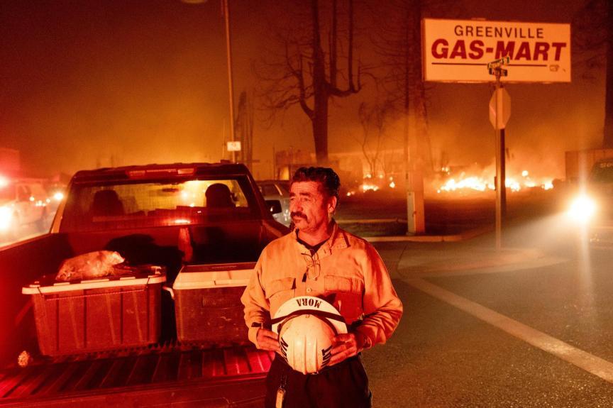 Wildfire decimates California town