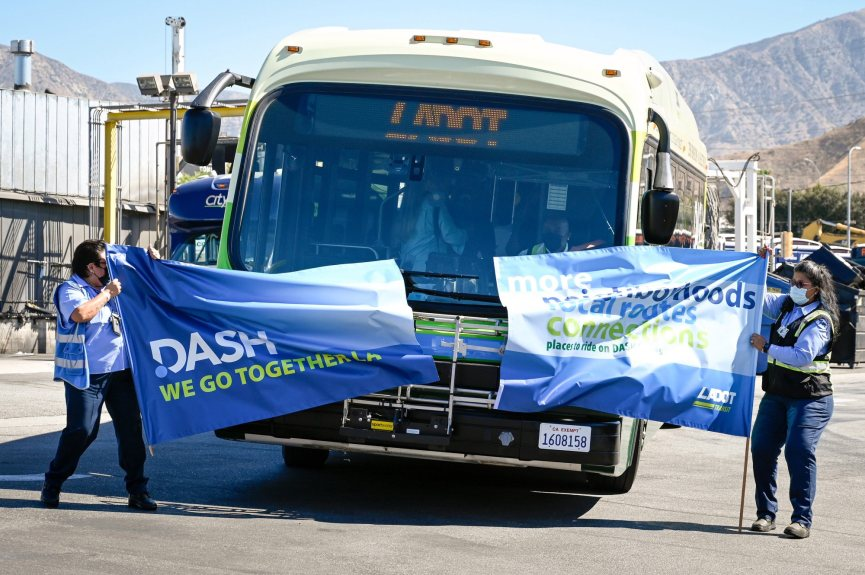 New DASH bus service launches in Sylmar area