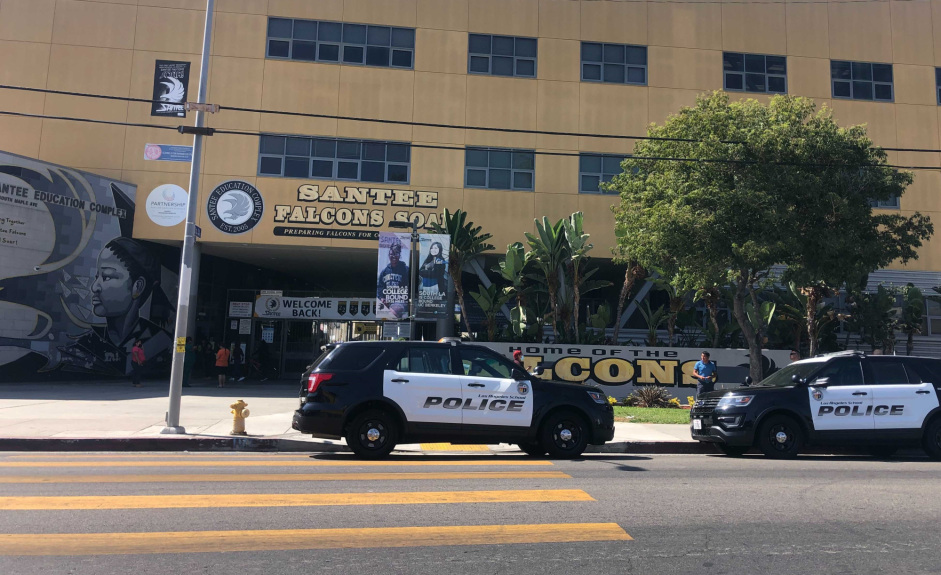 Student shot by another student just off campus at South LA high school