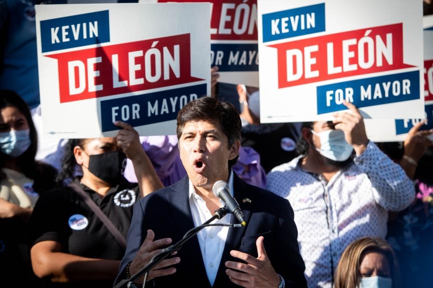 LA Councilman Kevin de Leon announces much-anticipated mayoral run