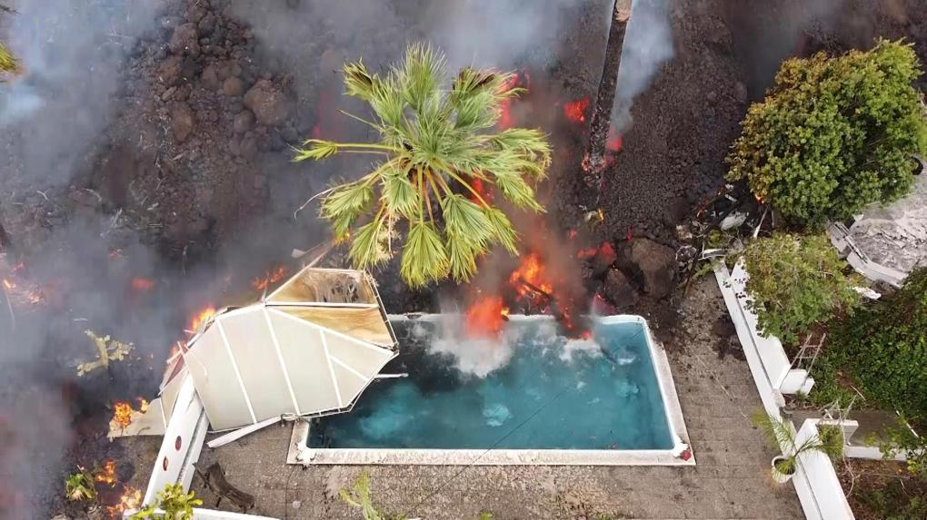 Toxic gas, new rivers of molten lava endanger Spanish island