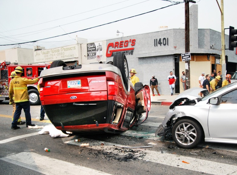 North Hollywood crash injures four, two critically