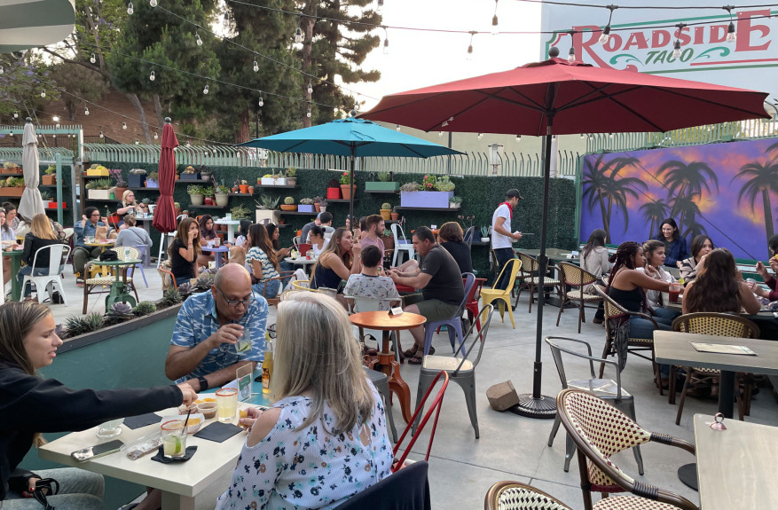 Tacos and cocktails play nicely together at the lively Roadside Taco in Studio City