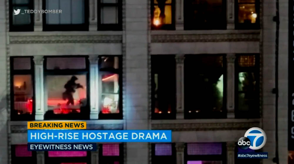 Police shoot, kill suspect in Downtown LA hostage rescue caught on Twitter